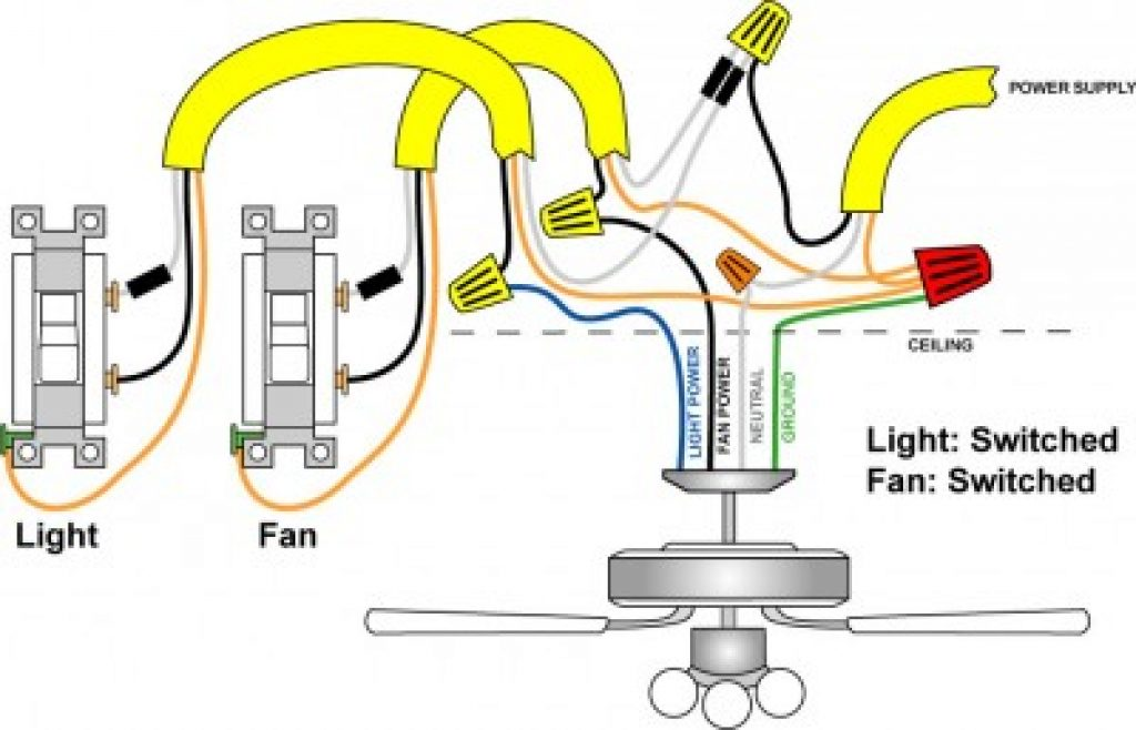 How To Wire A Ceiling Fan Light Switch