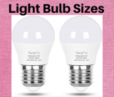 Light Bulb Sizes- Different Size of Light Bulbs and Its Usage